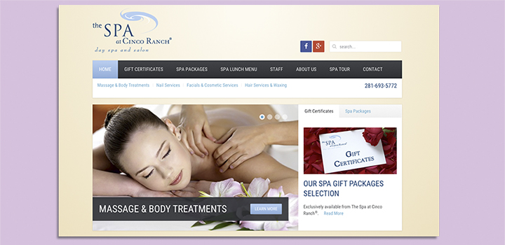 The Spa At Cinco Ranch Website